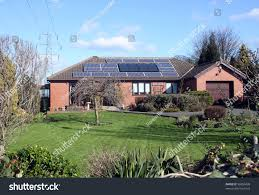 16 solar panels on bungalow roof stock photo 96859438 shutterstock