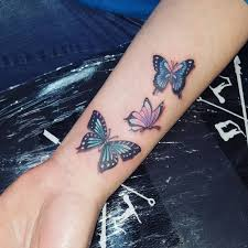 three colorful butterflies venice designs