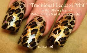 easy traditional leopard print nails animal diva nail art