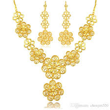 necklace sets wholesale images Nakelulu flower jewelry set wholesale new gold color vintage party jpg