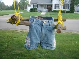 diy toddler swing from recycled materials lazy hippie mama