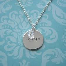 Name Charms For Necklaces Family Name Necklace Silver Necklace With Childrens Names