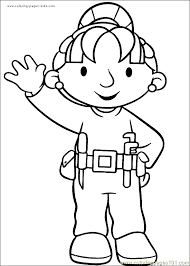 bob the builder coloring page 11 coloring page free bob the