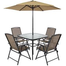 Patio Umbrella Table And Chairs by Amazon Com Best Choice Products 6pc Outdoor Folding Patio Dining