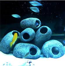 granite hideaway aquarium fish tank ornaments small large
