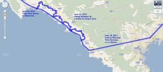 Cinque Terre Map Traveling Bones Italy June 12 22 2011