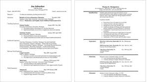 resume layout exles resume style exles exles of resumes
