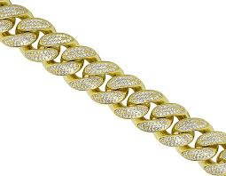 chain necklace diamond images Miami cuban link iced out bracelet chain combo jpg