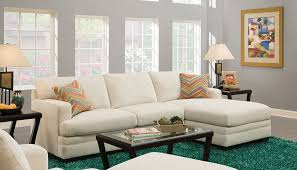 Sofas Made In Usa Simmons Norell Sassy Cream Sectional Sofa With 2 Pillows Made In