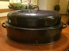 savory roasting pan vintage roaster pan enamelware ebay