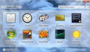 gadget de bureau windows 7 gratuit failles de sécurité dans les gadgets microsoft recommande leur