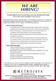 Resume Bm Mj Department Stores Sdn Bhd Metrojaya Group Linkedin