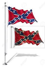 Confederate Flag Clip Art Illustration Of A Waving Confederate Rebe Flag In A Clean Cut