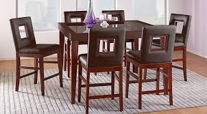 sofia vergara savona chocolate 5 pc counter height dining room