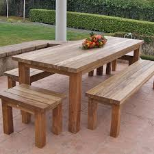 How To Make A Benchless Picnic Table by Farmhouse Picnic Table Plan Patio Dining Table Benches