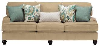Ashley Furniture Tufted Sofa by Benchcraft Lochian Sofa With Reversible Coil Seat Cushions