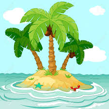 illustration of palm trees on desert island royalty free cliparts