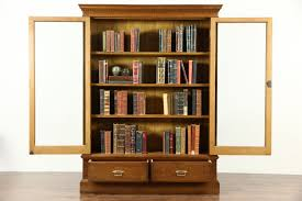 antique bookcases with glass doors best shower collection