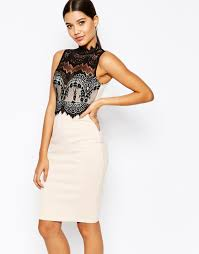 image 1 of michelle keegan loves lipsy 2 in 1 scallop lace top