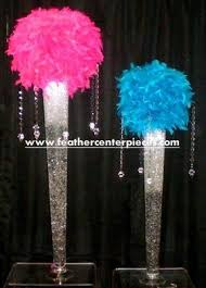 Feather And Flower Centerpieces by 138 Best Feather Centerpieces Images On Pinterest Ostrich