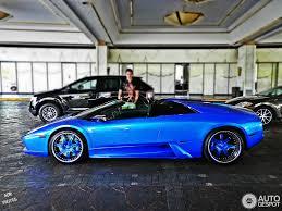 blue chrome lamborghini lamborghini murciélago roadster 5 november 2012 autogespot