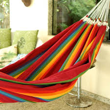 Hammock Overstock by Beautiful Color Iracema Rainbow Handmade Striped Cotton Hammock