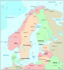 Barents Sea Map Scandinavia Map Stock Photo Picture And Royalty Free Image Image