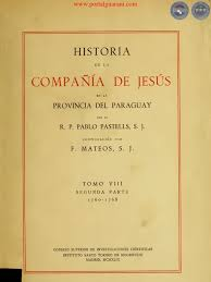 historia de la compañia de jesús en la provincia del paraguay