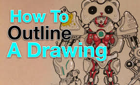 how to outline a drawing youtube