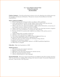 Resume Objective Necessary Medical Front Desk Resume Objective 100 Images Download
