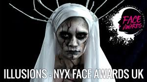 illusions ghost makeup tutorial nyx face awards uk 2017 top 10