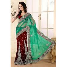 sari mariage lehenga sari haut de gamme pour mariage et vert