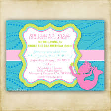 Shrimant Invitation Card Little Mermaid Baby Shower Invitations Plumegiant Com