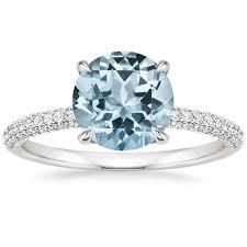 aquamarine diamond ring aquamarine engagement rings brilliant earth