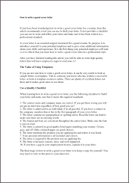 example of great resume how to type a good resume free resume example and writing download write a good cover letter beauty specialist sample resume 12 great cover letter examples for 2017