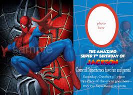 Free Spiderman Invitation Cards Invitation Spiderman Party Invitation Template