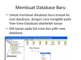 membuat database baru di sql server pemrograman berorientasi objek ii 12 sql server