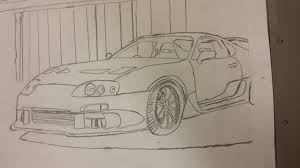 toyota supra drawing supra made by me if you want a drawing ask me and il se what i can