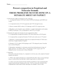 Molar Mass Calculations Worksheet 8 Best Images Of Percent Composition Worksheet Answer Key