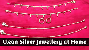 how to clean silver jewellery at home easy method to clean