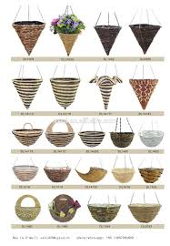 Garden Baskets Wall by Half Round Shaped Hanging Garden Flower Pots Hanging Wall Baskets