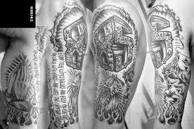 half sleeve marvelous black n white half sleeve design