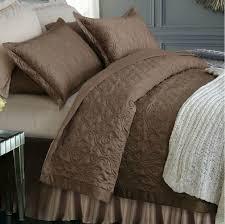 wholesale luxury quilted bedspread satin silk 100 cotton brown