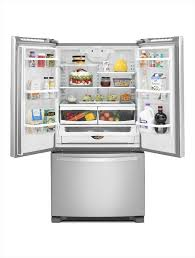 Stainless Steel Refrigerator French Door Bottom Freezer - whirlpool 25 2 cu ft french door refrigerator in monochromatic