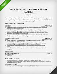 Resume For Writing Job by Janitor Resume Sample Download This Resume Sample To Use As A