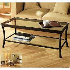 glass coffee table walmart mendocino coffee table metal glass walmart com