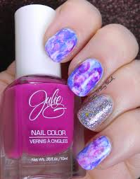 splotchy nail art manicure with ellagee and julieg be happy and