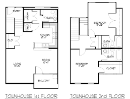 two level condo townhome floor plans homepeek