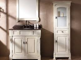 bathrooms design height black stained mahogany linen cabinet