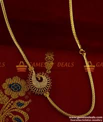 red stone gold necklace images Mch035 ad red stone peacock mogappu dollar daily wear thali jpg